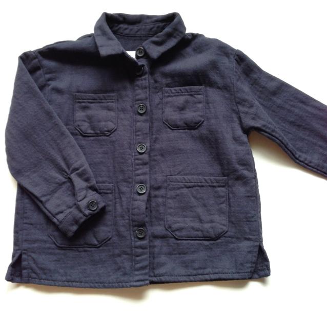 コットンシャツ(ネイビー)