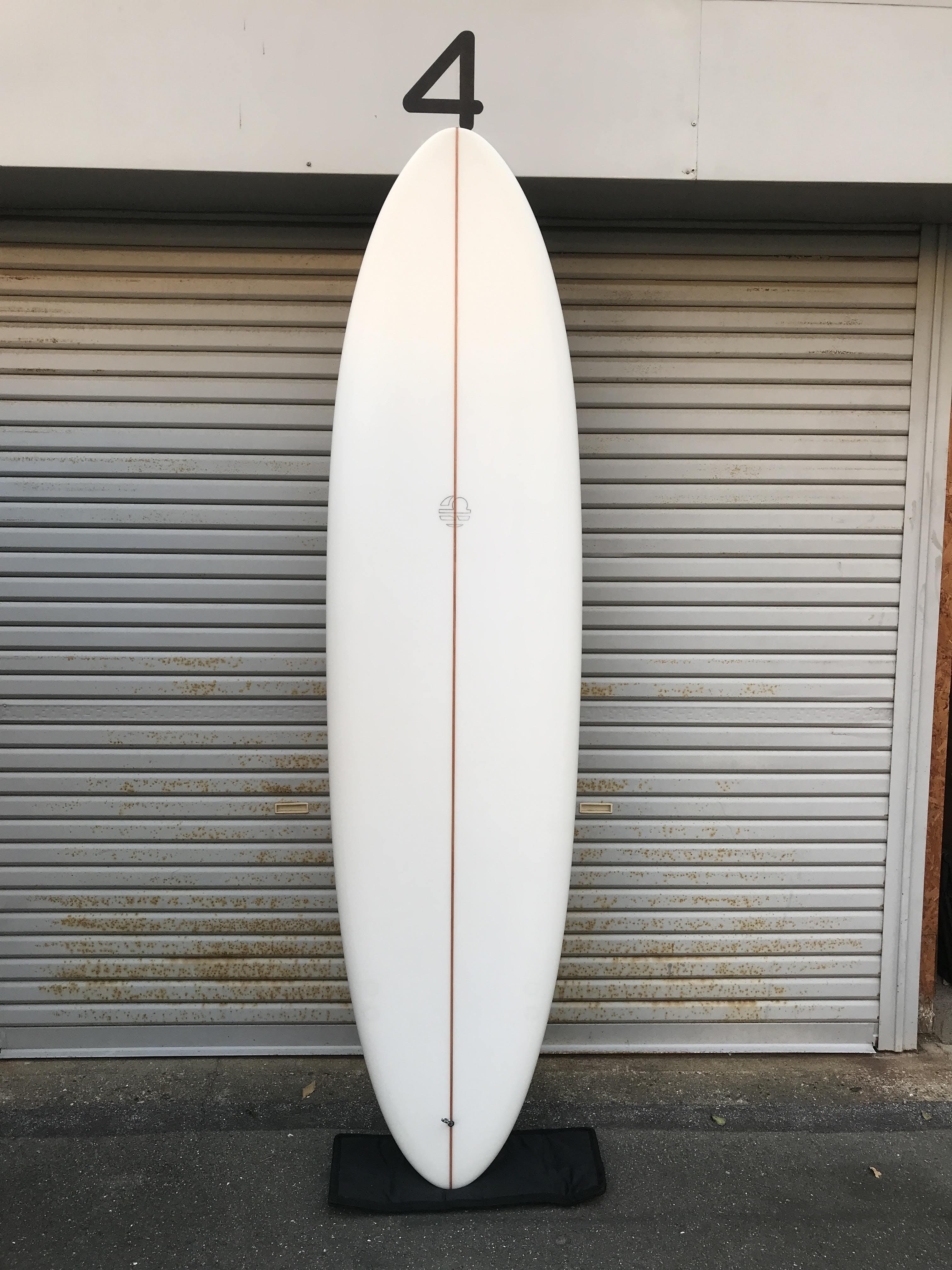 """【MITSVEN SURFBOARDS】ミツベンサーフボード サンディエゴエッグ 7'4""""  2+1 クリア  ミッドレングス"""
