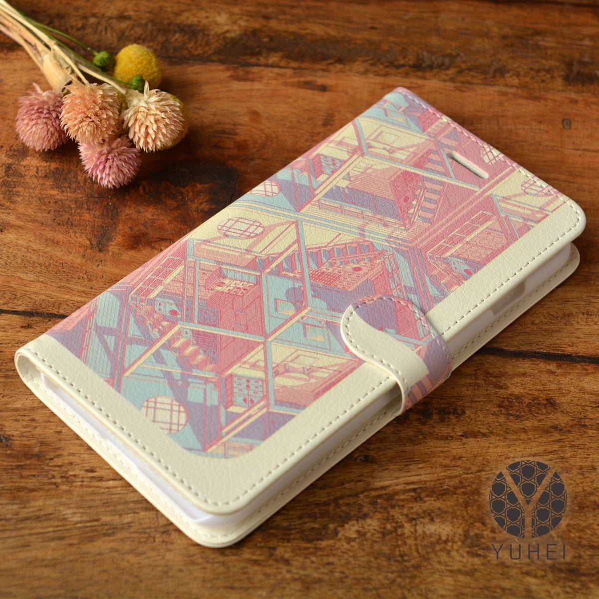 【訳あり】iphone8plus ケース 手帳型 アイフォン8プラス 手帳型ケース iphone8plus ケース 和柄 iphone7plus ケース 和柄 四畳半パターン3D/YUHEI【yh-iph8pt-39007-B1】
