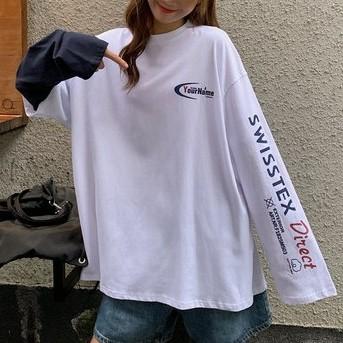 【tops】配色アルファベットファッションTシャツ26561447