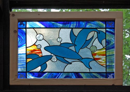 THEオーシャン(ステングラスのアートパネル) 03050201