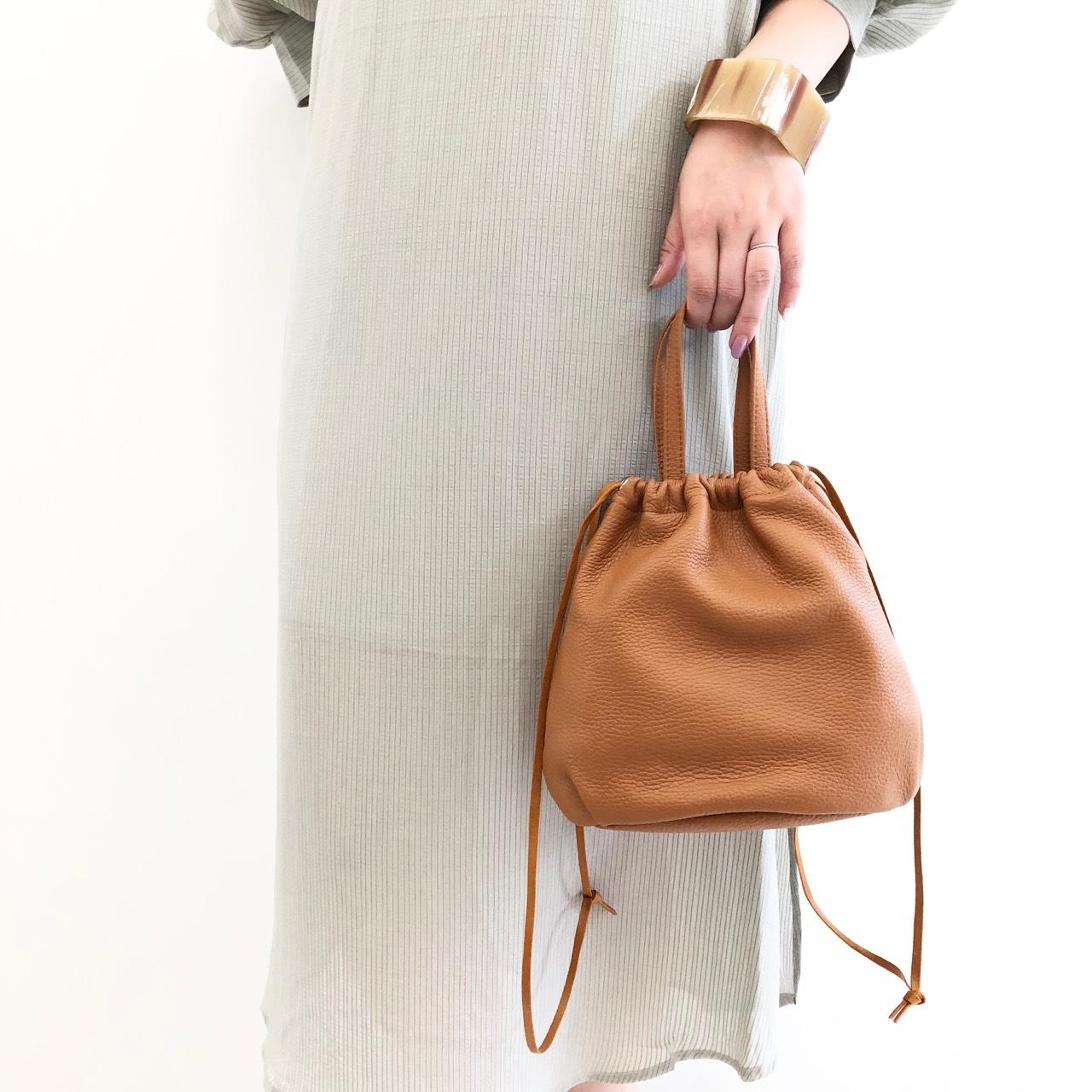 【 joe&him 】- JO-AC9301 - イタリアンレザー巾着バッグ