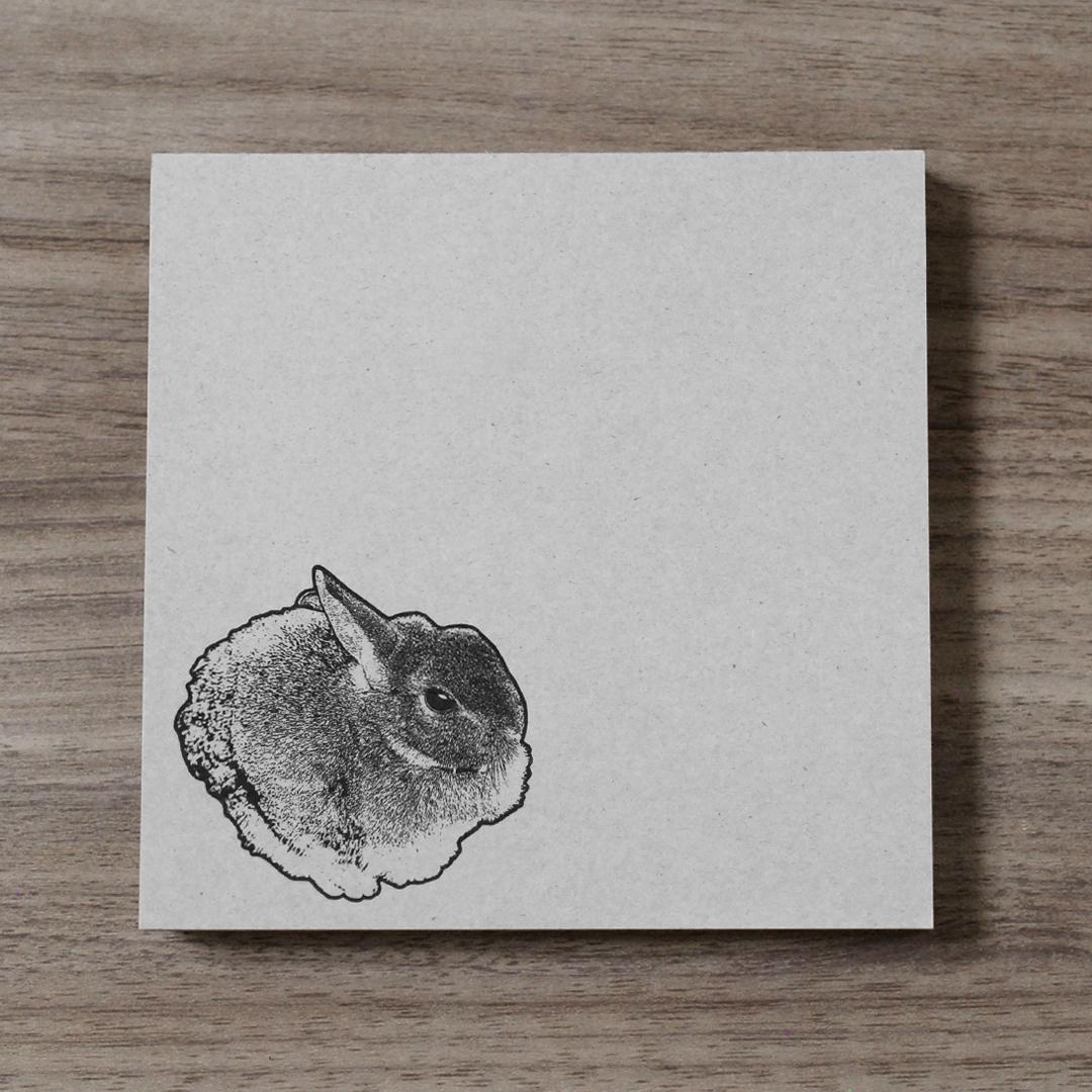 再生紙スクエアメモ(ウサギ)
