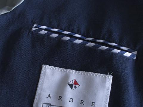 Arbre アルブル コットンリネン3Bジャケット