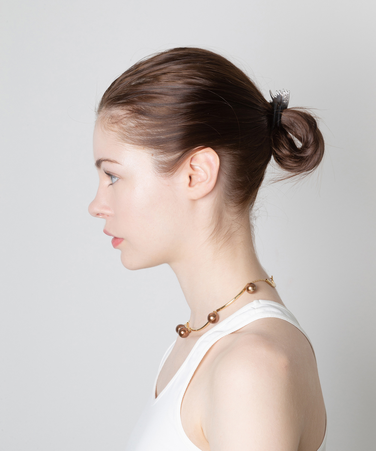 df19AW-J18 PIPE PEARL NECKLACE