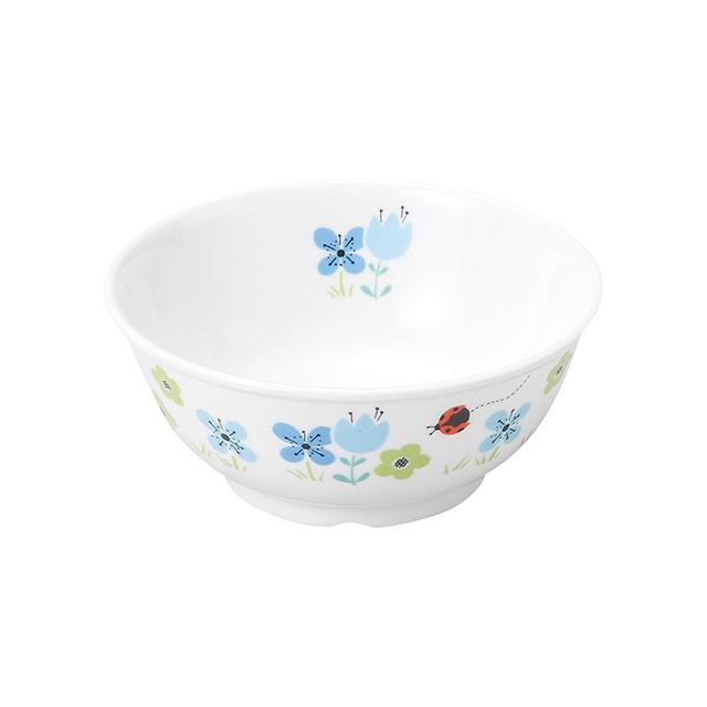 【1087-1330】強化磁器 11cm こども茶碗 ブルーメ・ブルー