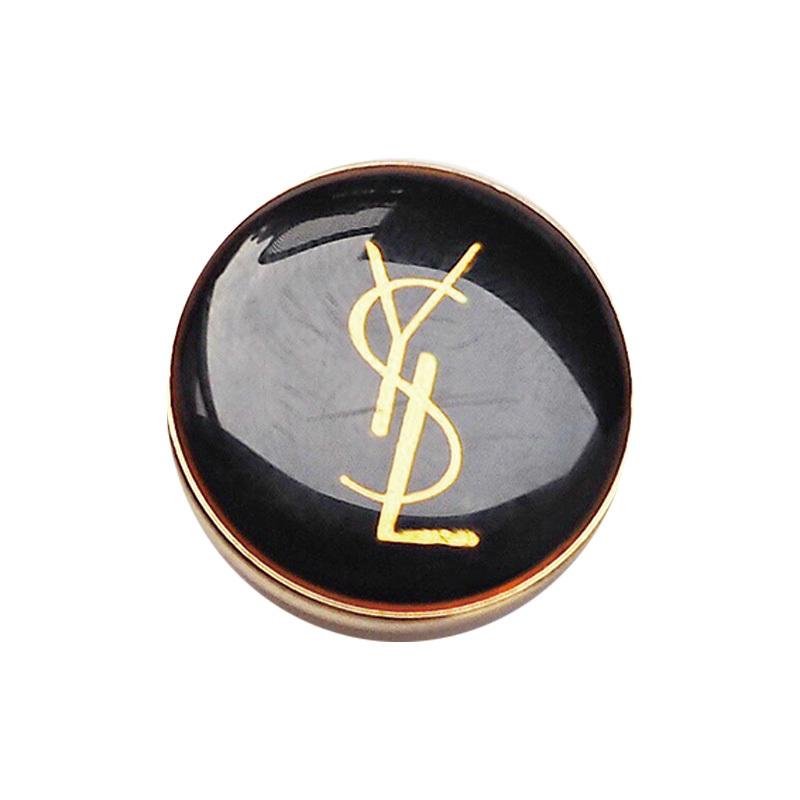 【VINTAGE SAINTLAURENT BUTTON】ブラック ゴールドロゴ ボタン