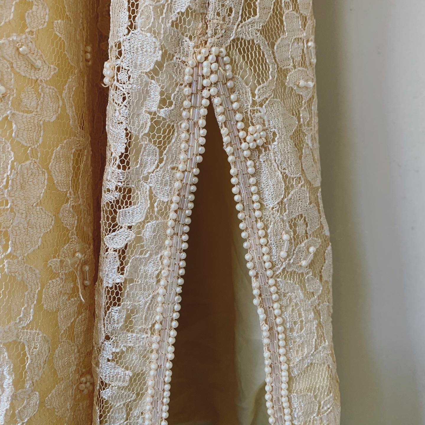vintage lace and beads dress