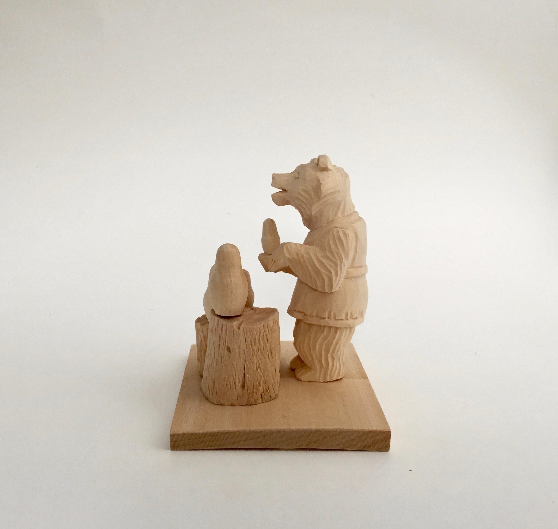 ボゴロツコエ木地玩具「クマのマトリョーシカ売り」