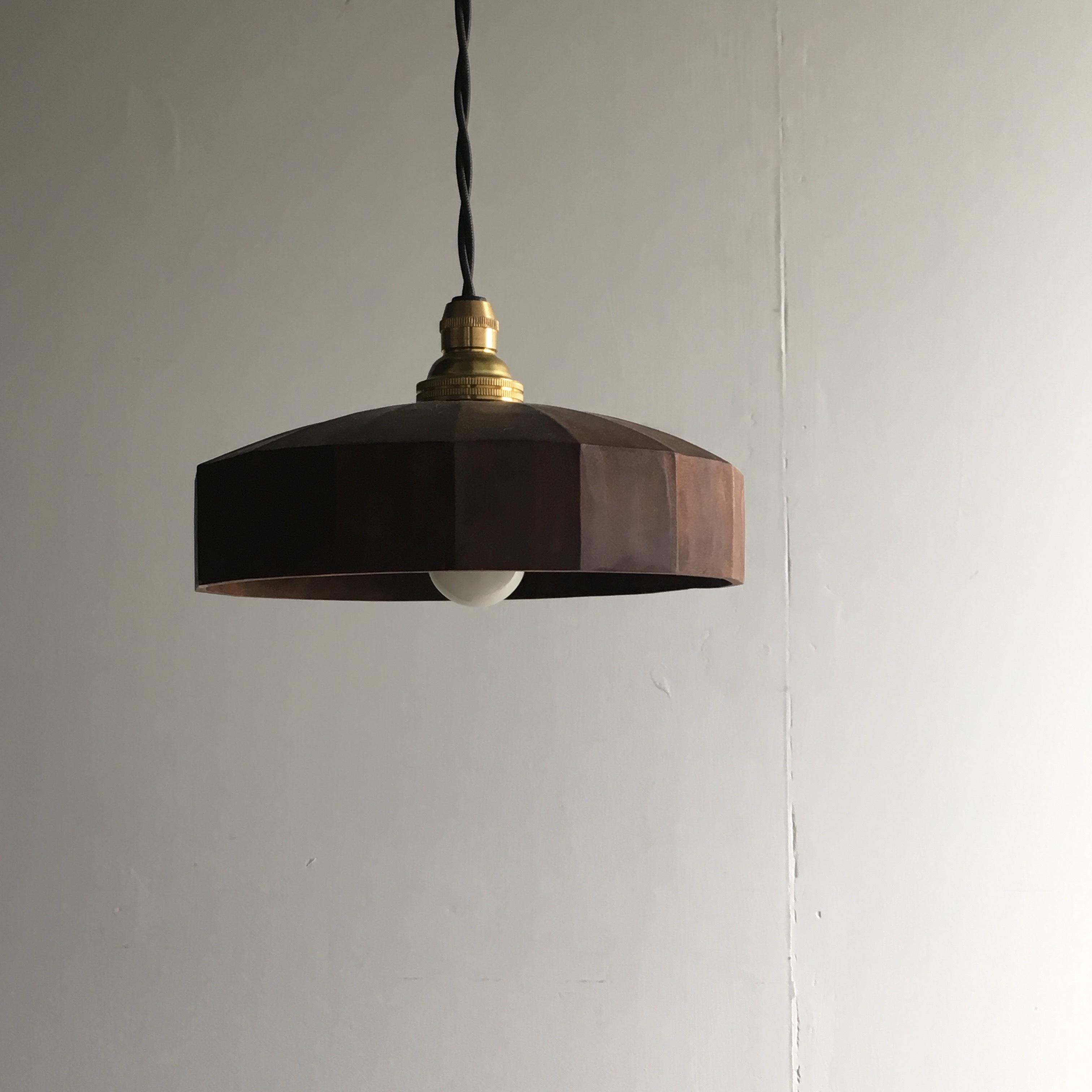 Lamp shade 16面型 /  柿渋仕上げ