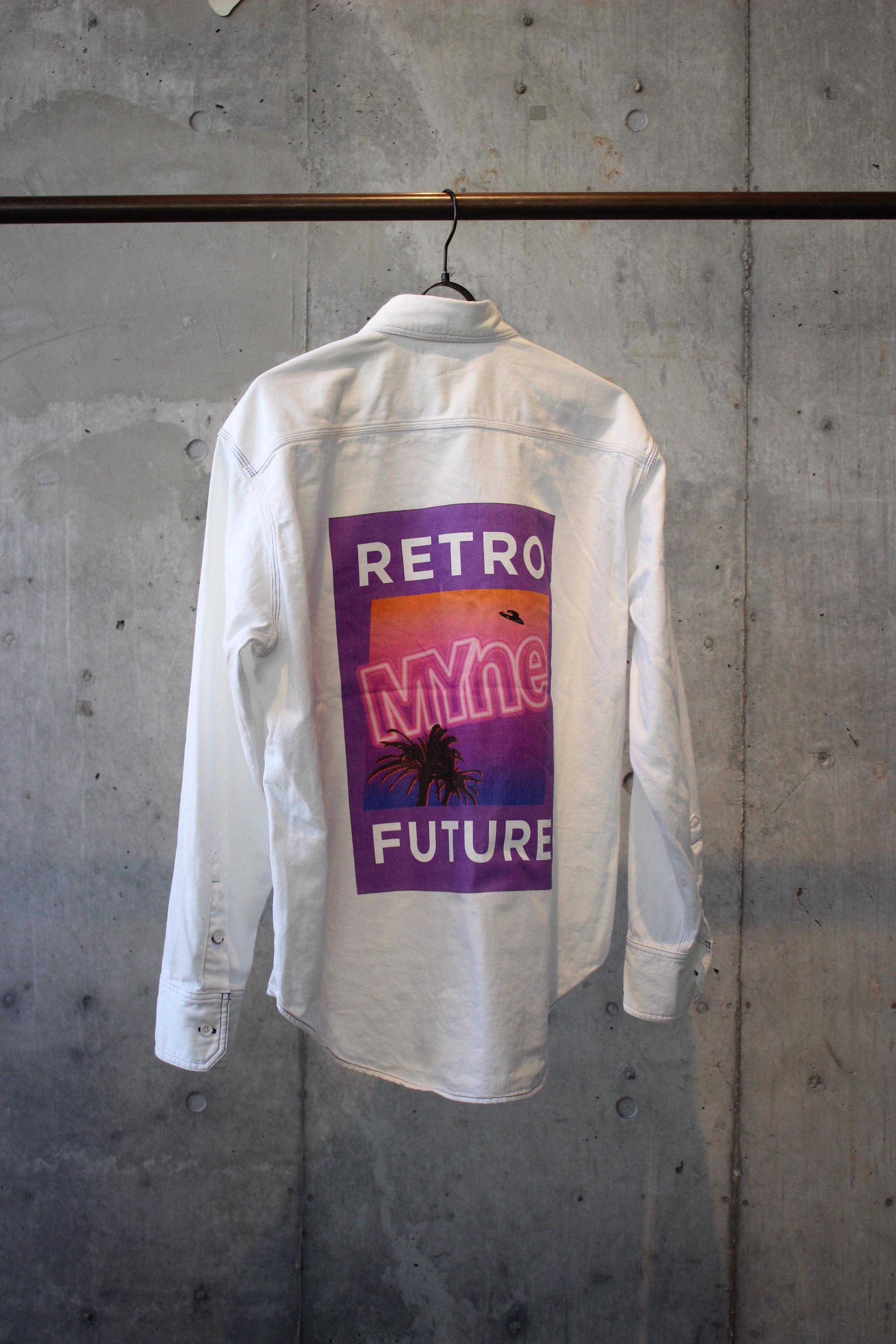 RETRO FUTURE DENIM SHIRT / WHITE - 画像2