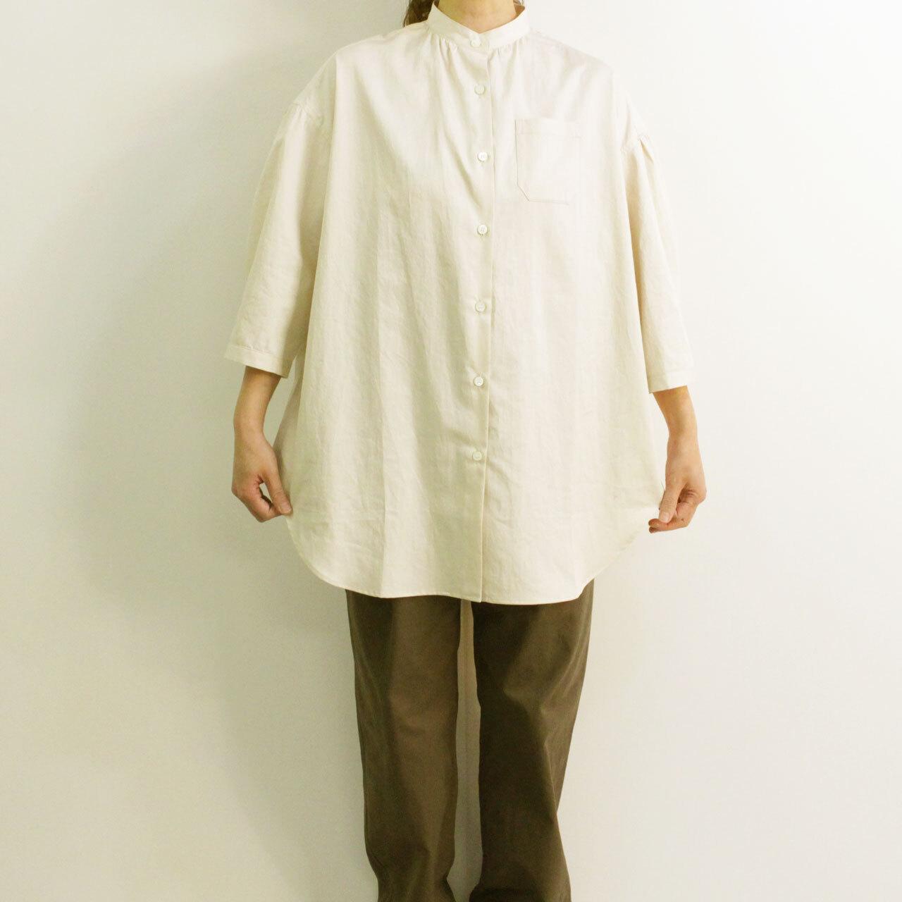 COMM.ARCH  コム・アーチ SUPIMA SATIN TUNIC SHIRT スーピマコットン サテンチュニックシャツ