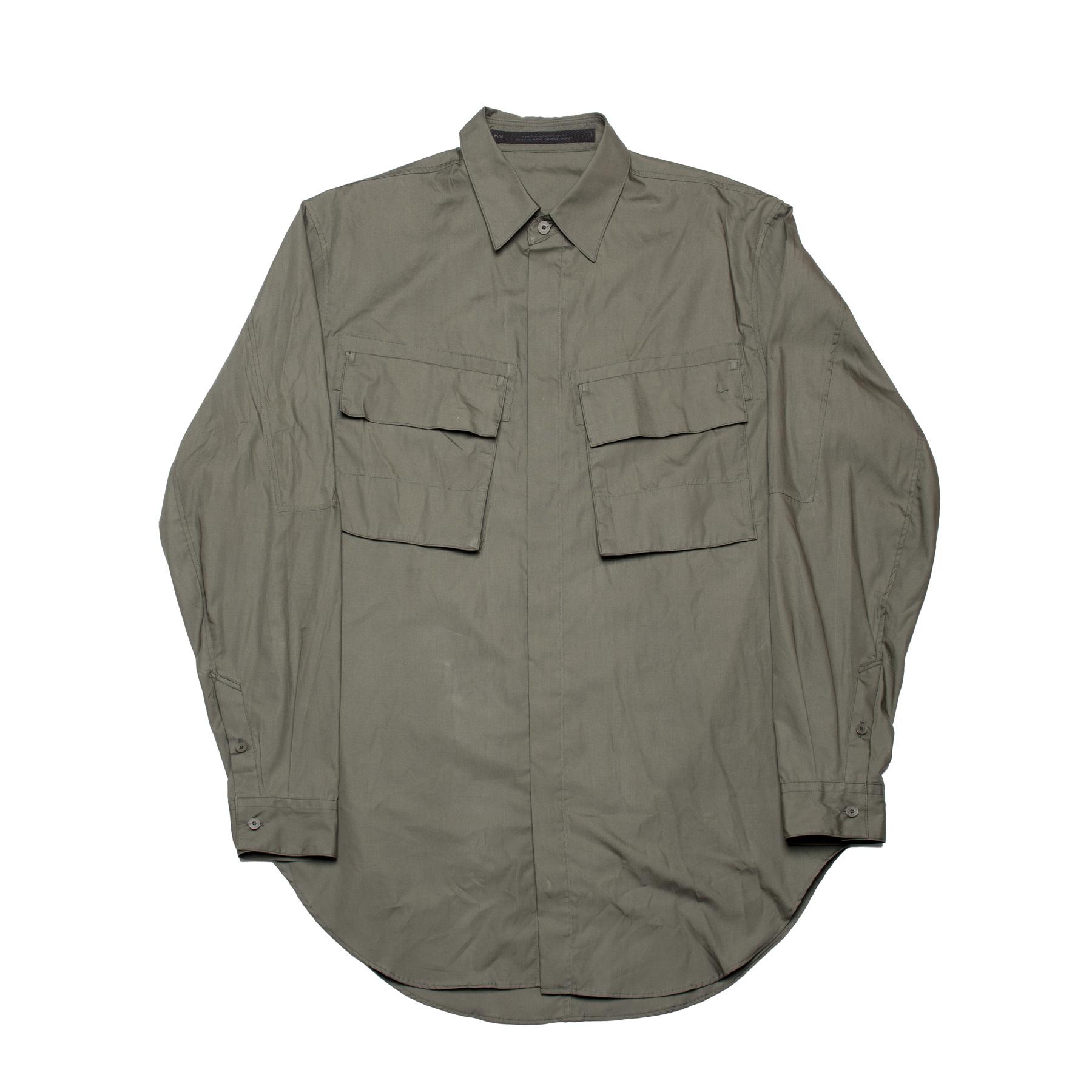 637SHM2-A.GREEN / ミリタリーシャツ