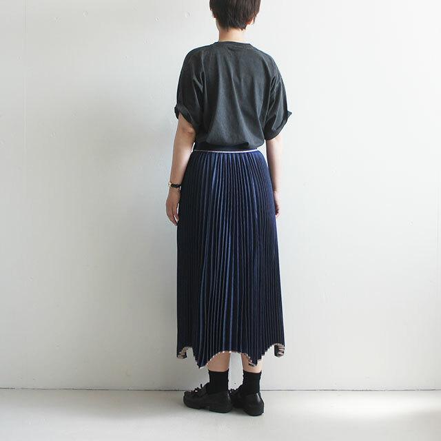 RaPPELER ラプレ セルビッチデニム変形ヘムプリーツスカート  (品番rl192-03018)