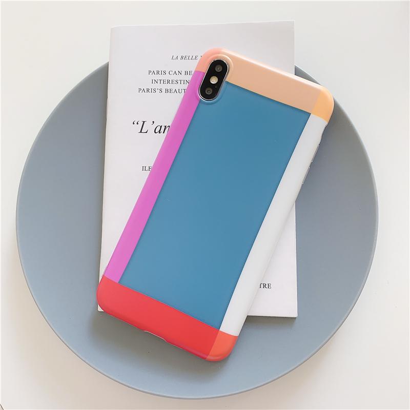 【お取り寄せ商品、送料無料】おしゃれ シンプルカラー 光沢 ソフト iPhoneケース