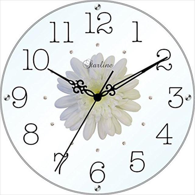 掛け時計 造花 アートフラワークロック SW-1186 スターライン - 画像2