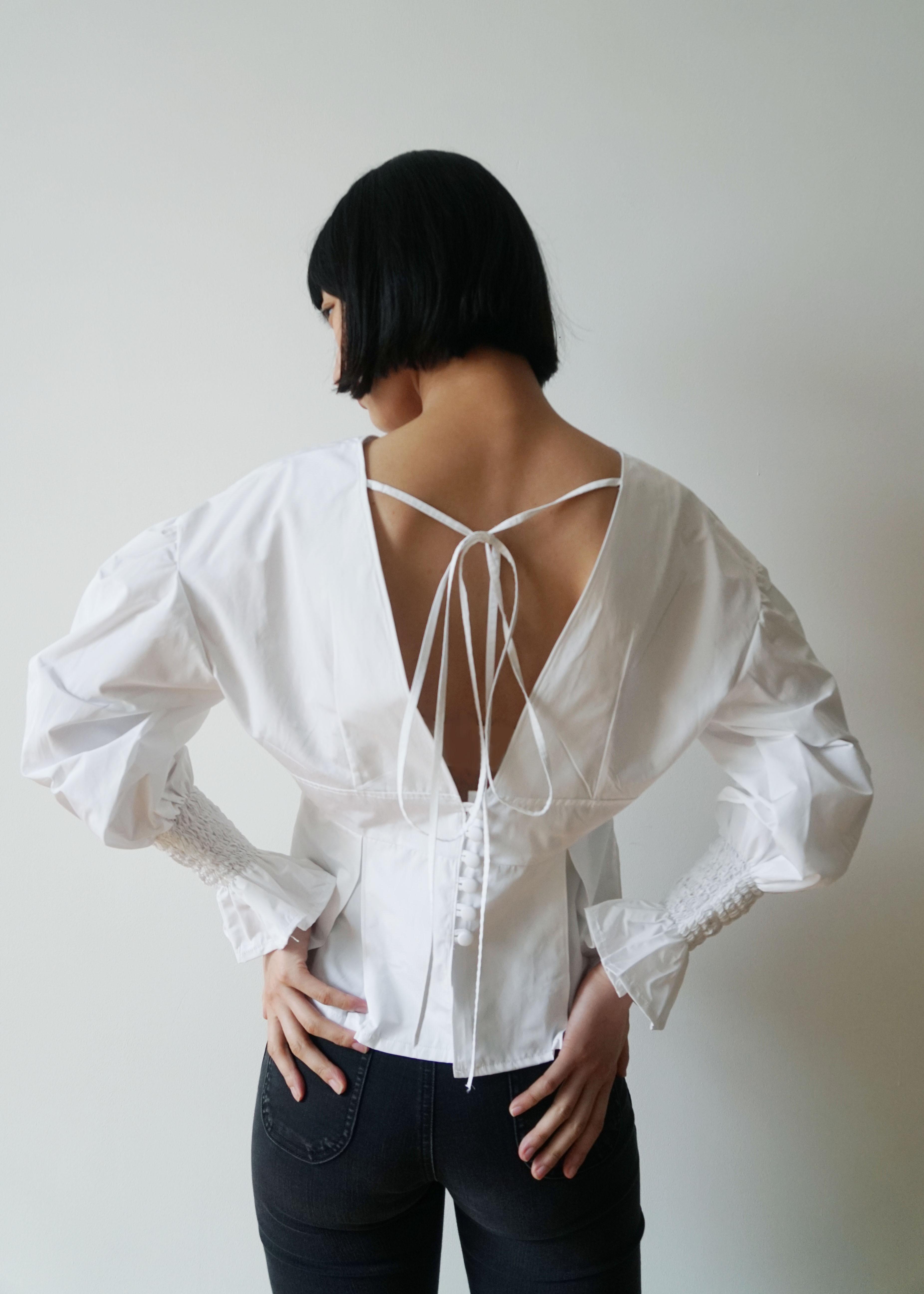 IAPETUS Calla Lilies Blouse / White