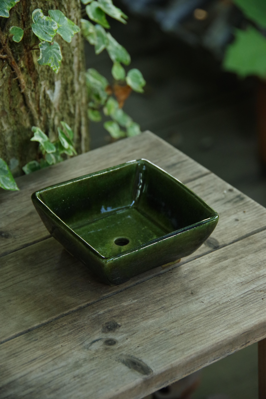 オリベ角形植木鉢①【ねぎし よねお】