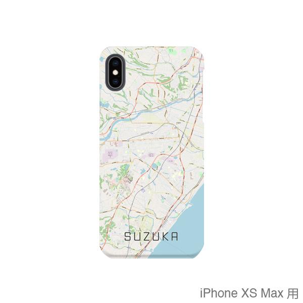 【鈴鹿】地図柄iPhoneケース(バックカバータイプ・ナチュラル)