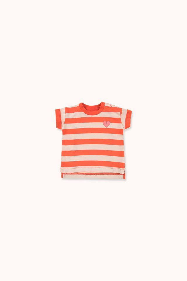 "TINYCOTTONS タイニーコットンズ ""HEART"" STRIPES TEE size:12M(80-90)"