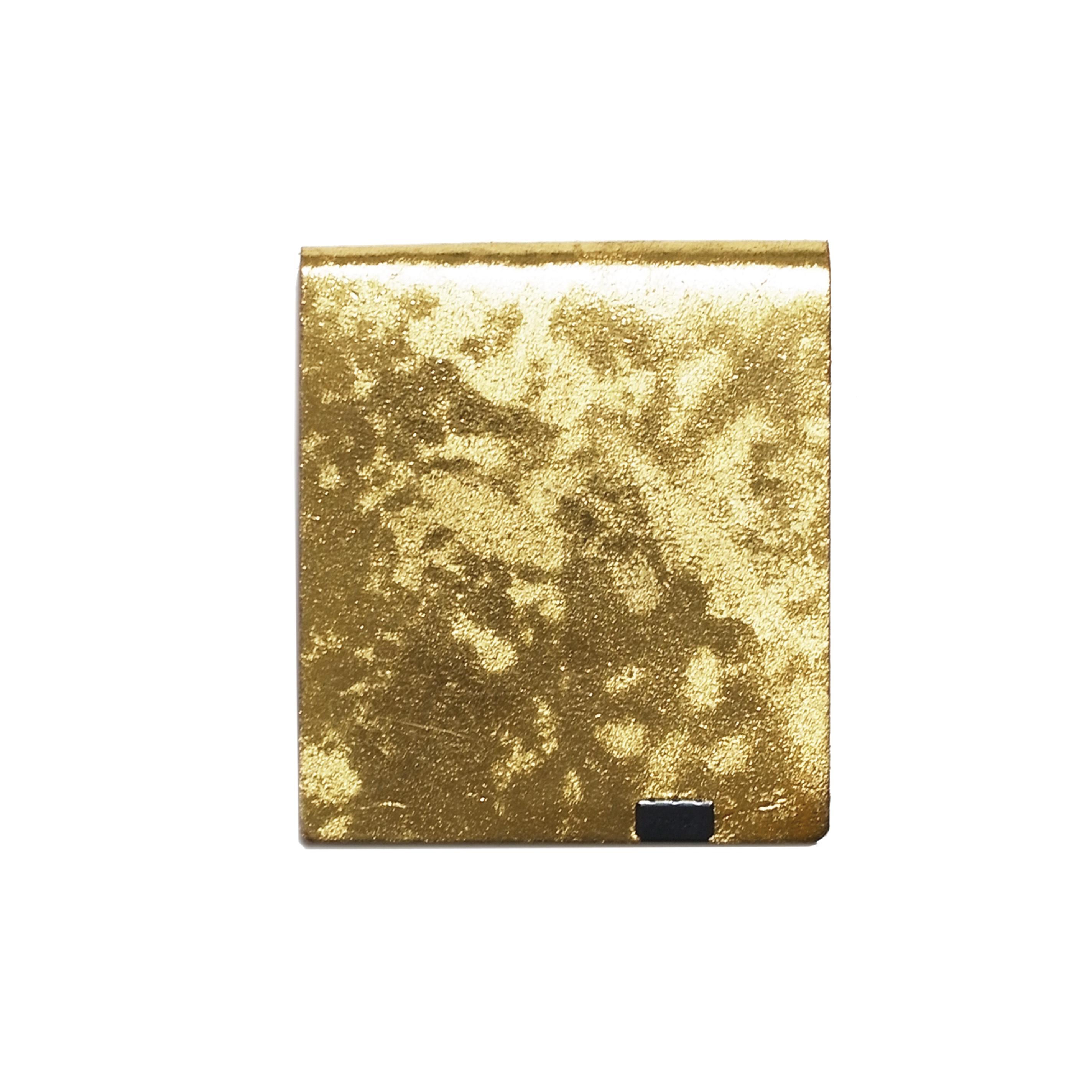 侘び寂び -ショートウォレット2.0- ゴールド×キャメル