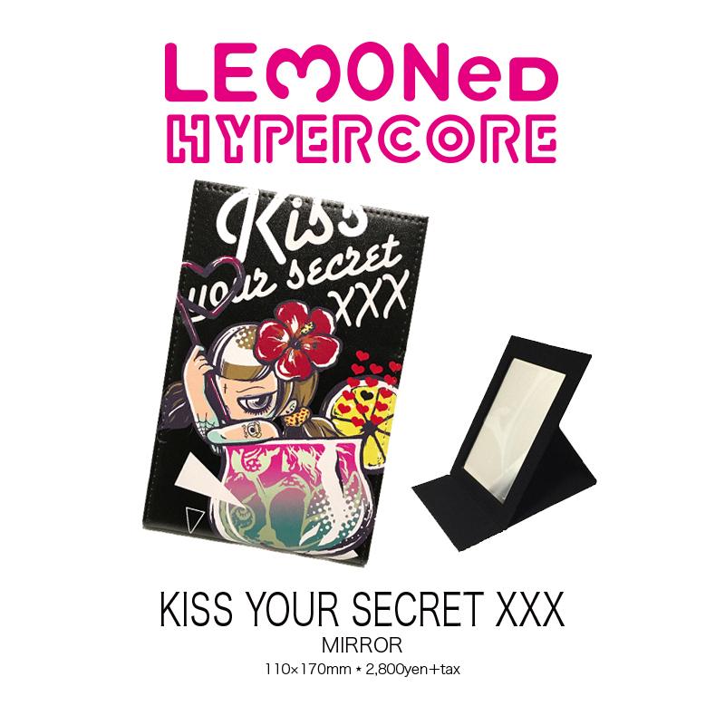 """A-325J  LEMONed×HYPER COREコラボレーション""""KISS YOUR SECRET XXX""""折りたたみミラー"""