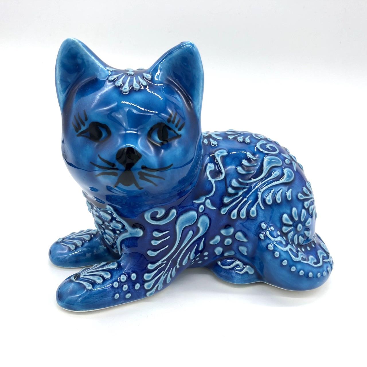 キュタフヤ手描き陶器・猫