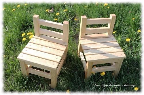 北海道モミの木の子供椅子