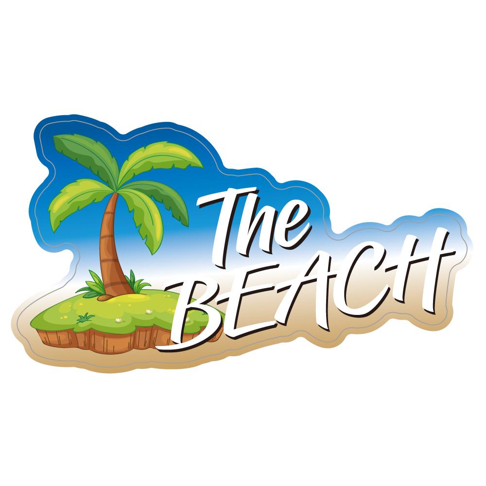 "225 The BEACH! ""California Market Center"" アメリカンステッカー スーツケース シール"