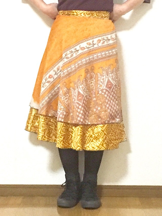 dss-036 シルクサリー巻きスカート ショート