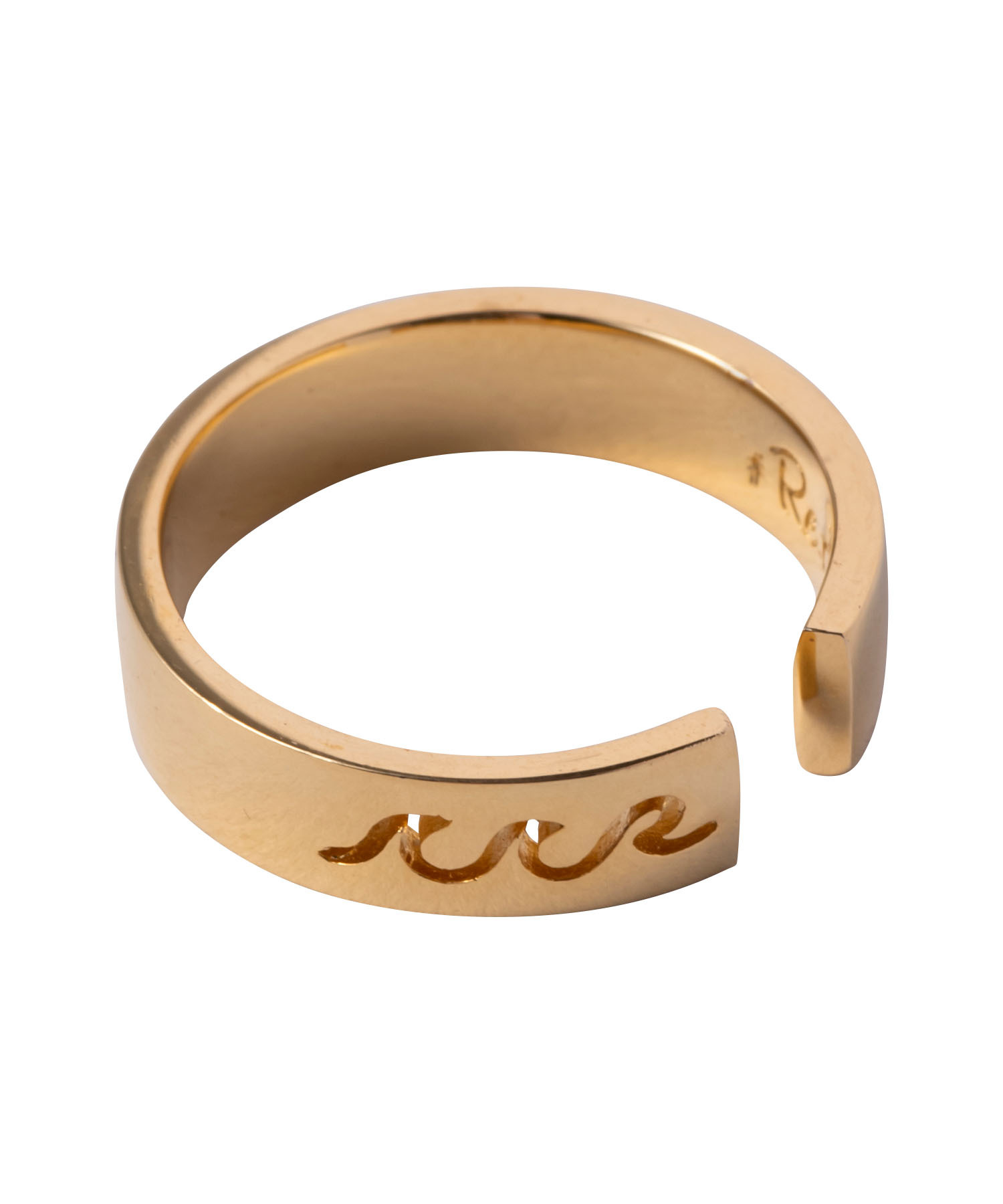 WAVE ICON PLATE RING GOLD[REA134]