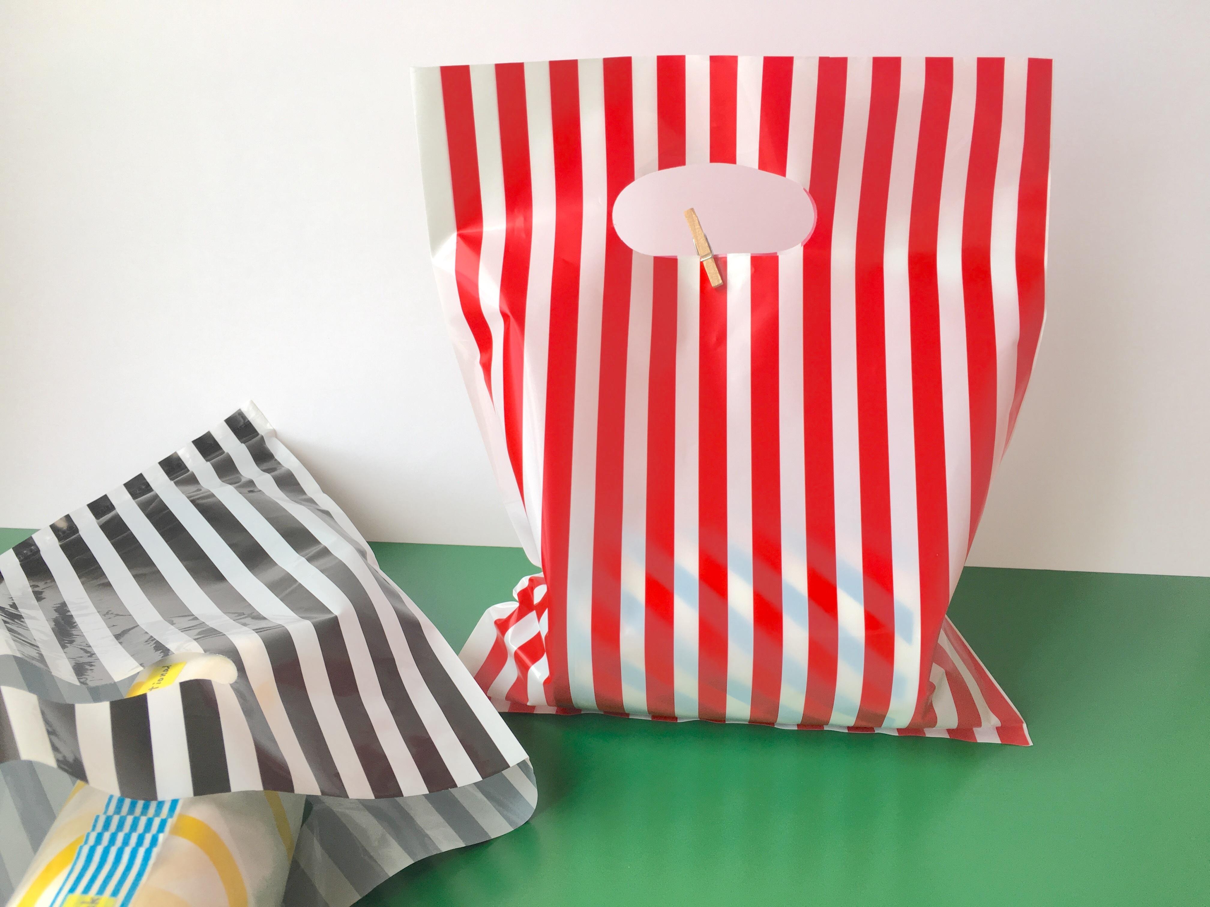 たてしま プラスチック袋 _ 5枚セット