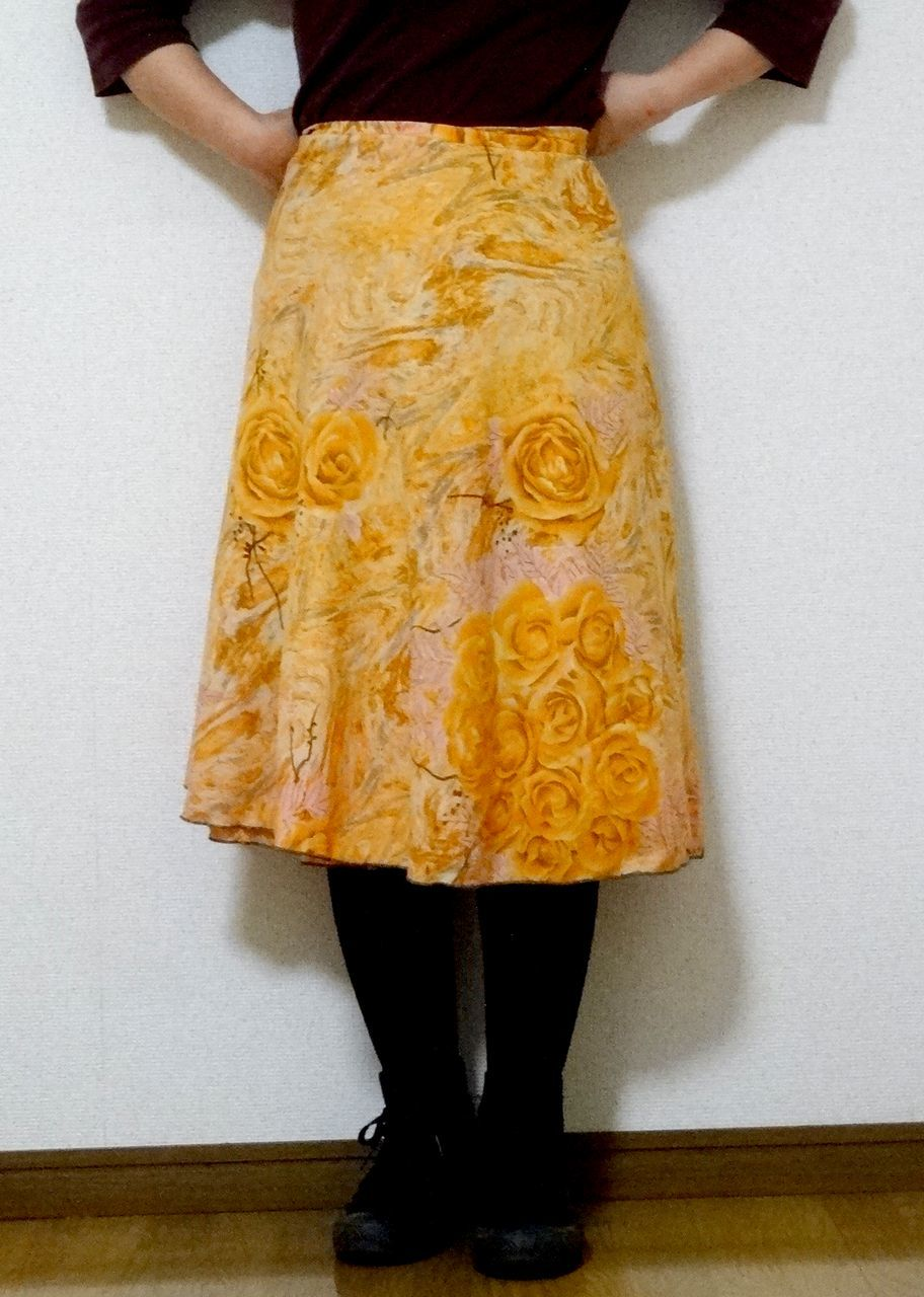dss-034 シルクサリー巻きスカートショート