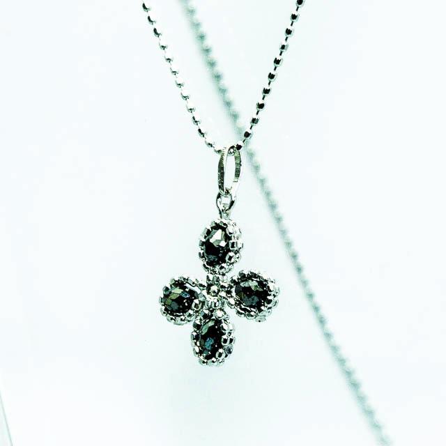 ブラックダイヤモンド デザインペンダントK18