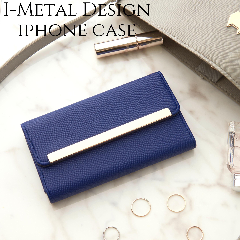 iphone ケース 手帳型 ミラー付き iphone8  XR カバー 手帳 かわいい iphone11 iphone 11Pro Xs max おしゃれ サフィアーノレザー風 アイフォン 11 プロ シンプル 大人 可愛い スタンド ネイビー