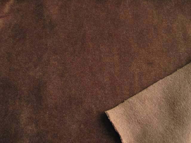 綿ニットベロア ブラウン NTM-2431