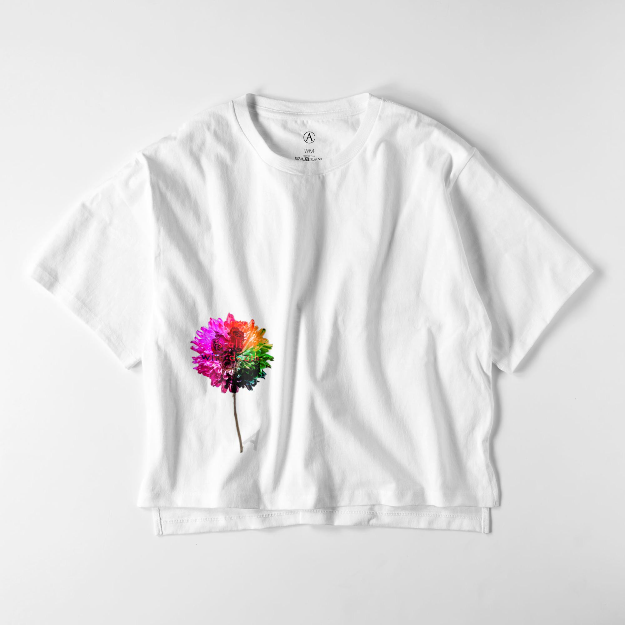 Flower-red ビッグシルエットTシャツ / Ladies(4色)