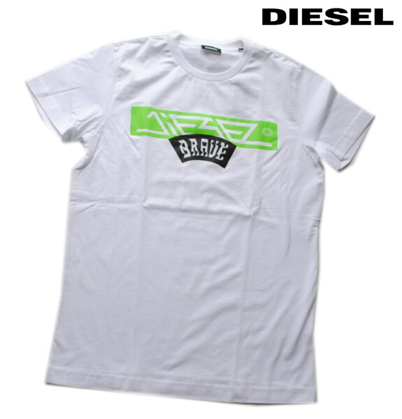 DIESEL ディーゼル Tシャツ 半袖 プリント Tシャツ メンズ T-DIEGO-A1 WHITE
