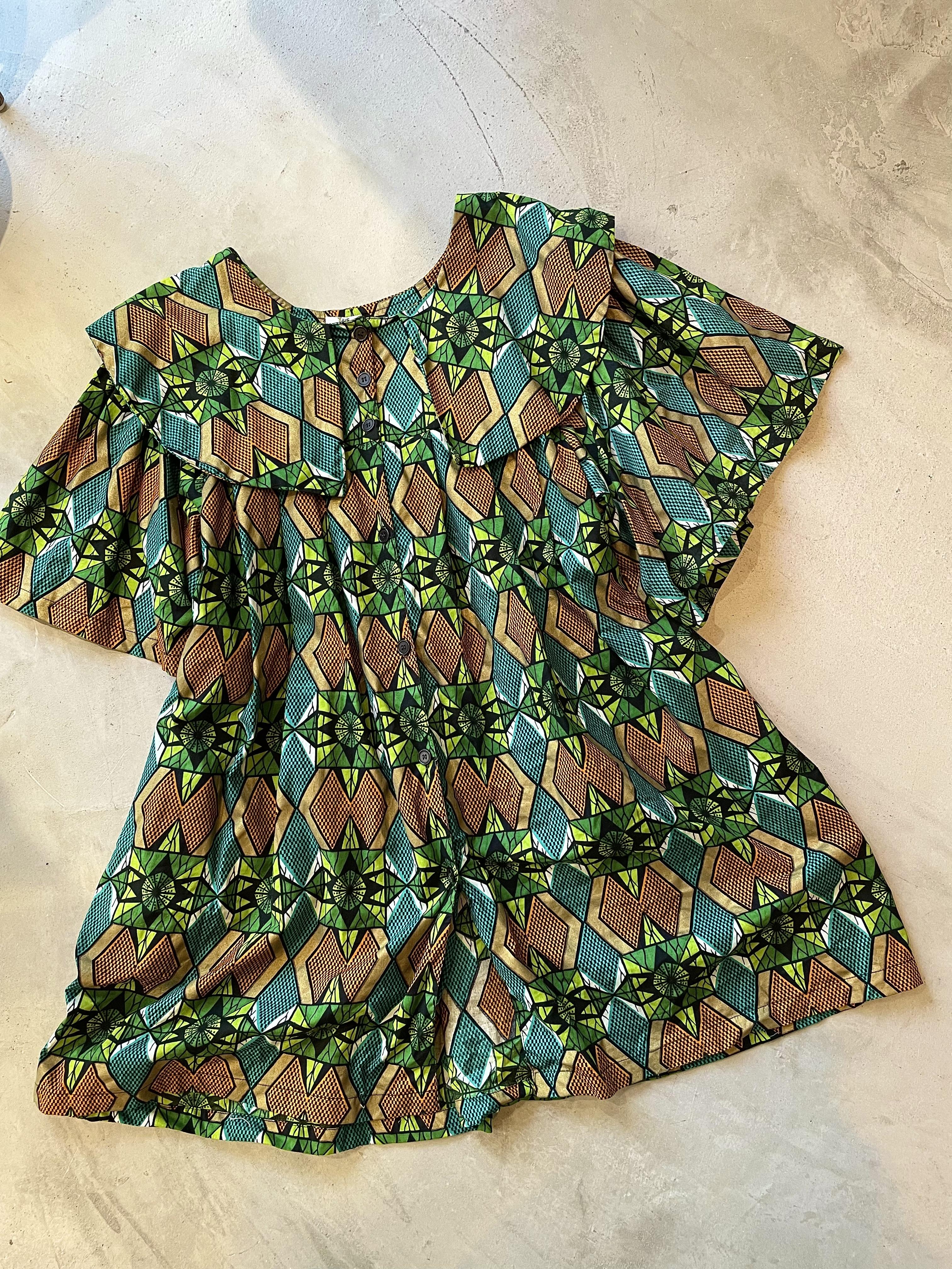 vintage african batik dress