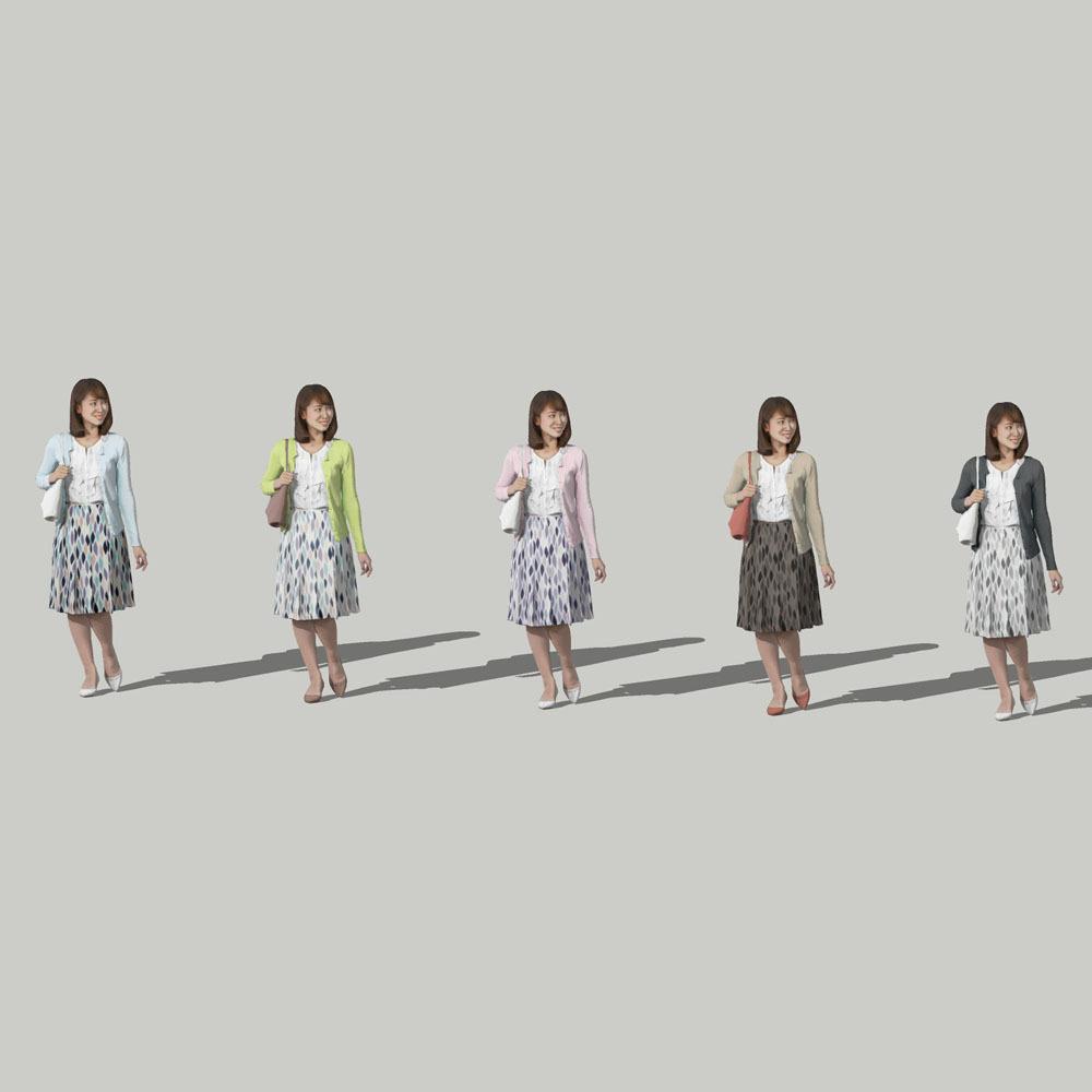 SketchUp素材 3D人物モデル ( Posed ) 019_Kana - 画像2