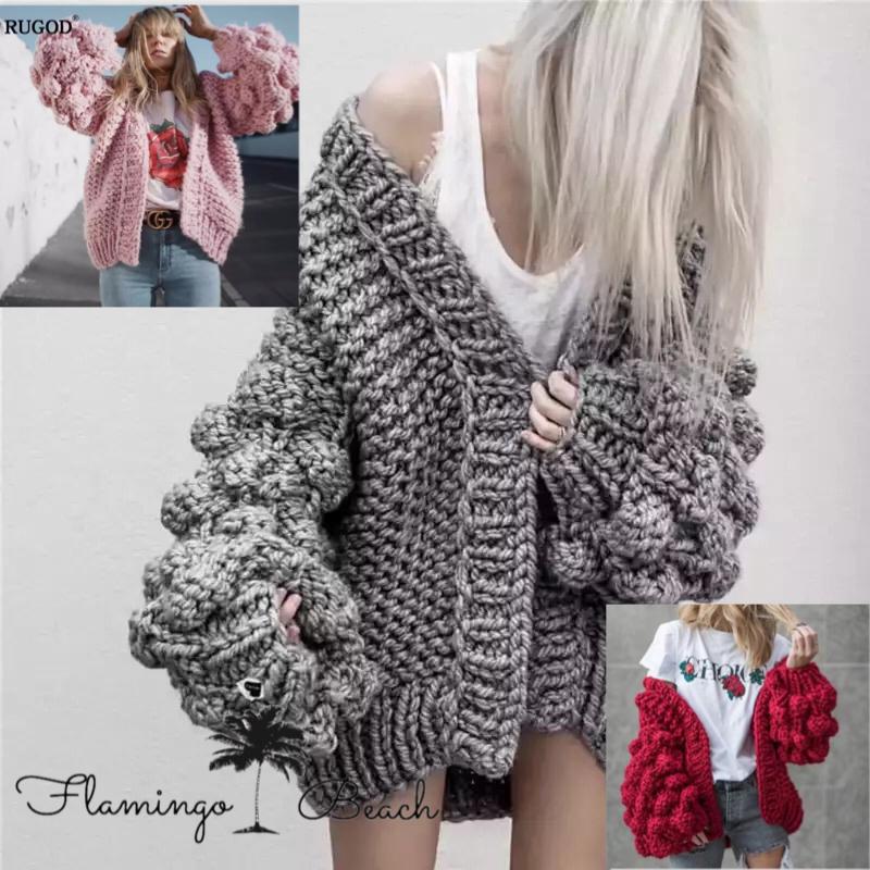 【FlamingoBeach】volume knit