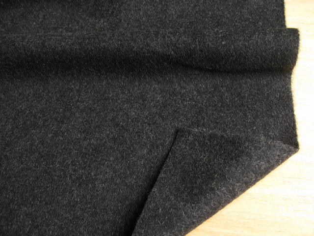 アンゴラウール混ビーバー(弱起毛) ブラック  UR-0116