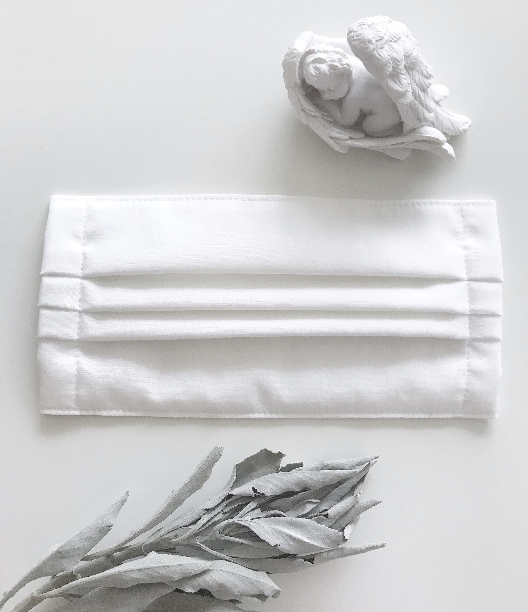 【布マスク】オーガニックコットン&抗菌・抗ウィルスコットンガーゼ 無地