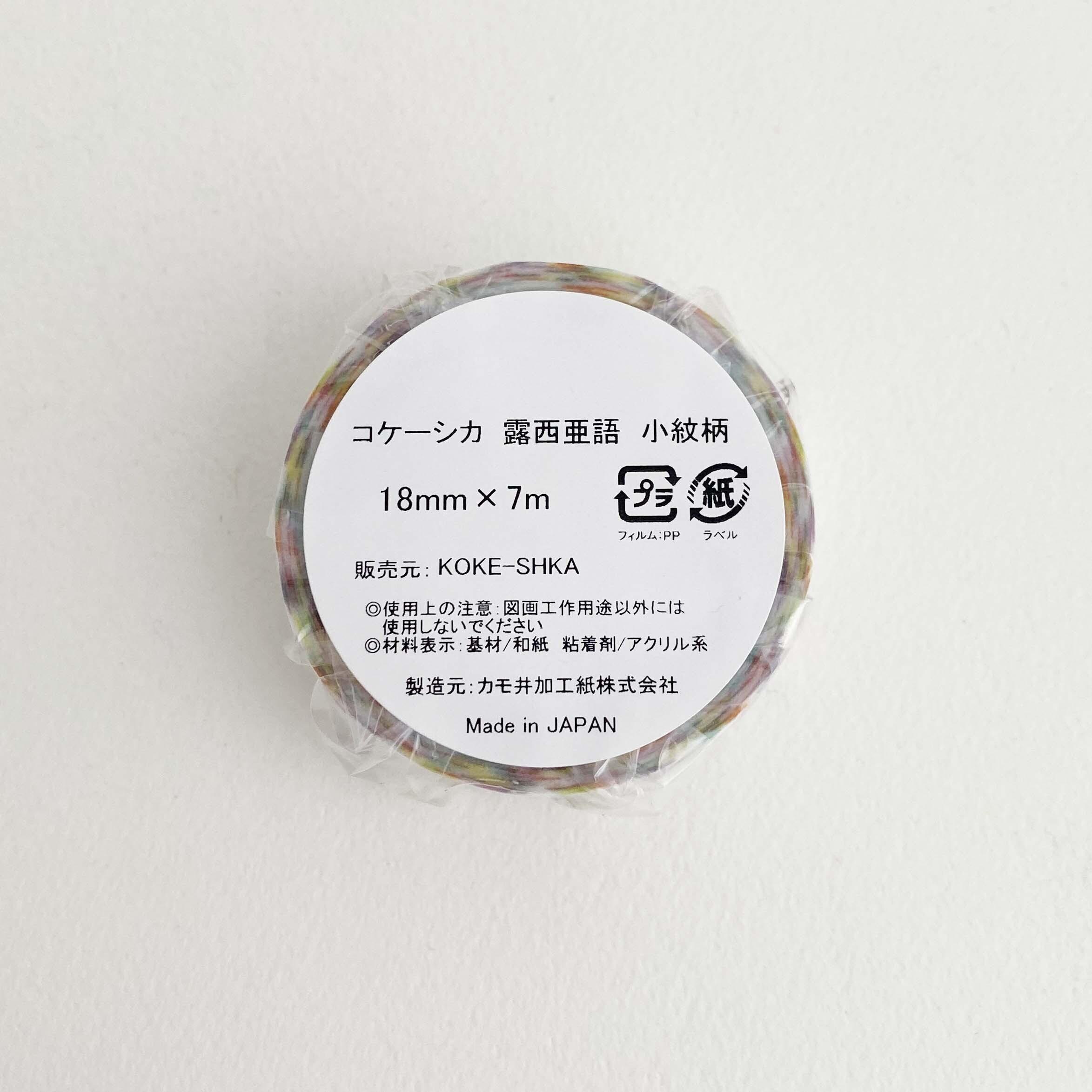 マスキングテープ(露西亜語 小紋柄)