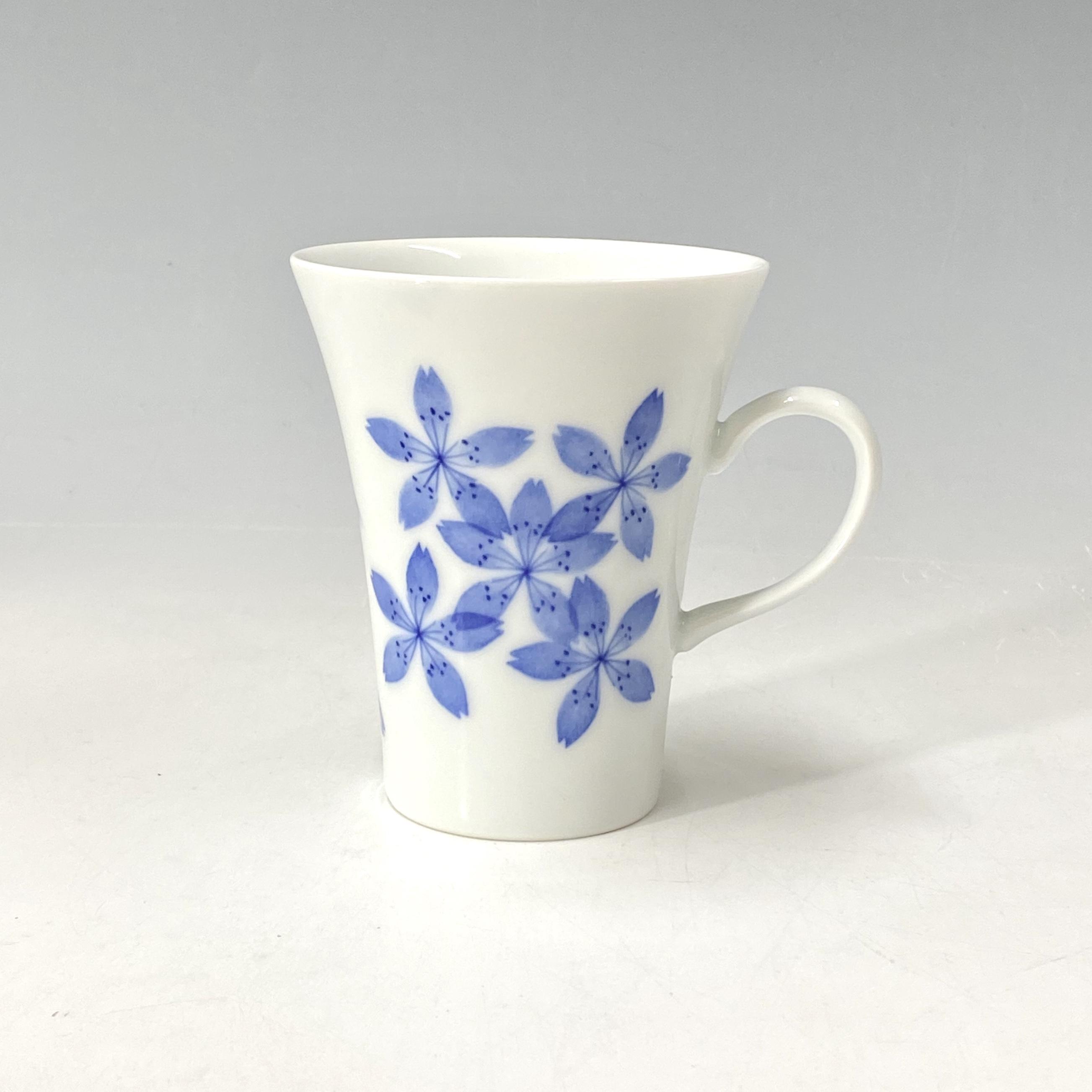 【中尾英純】和紙染桜マグカップ