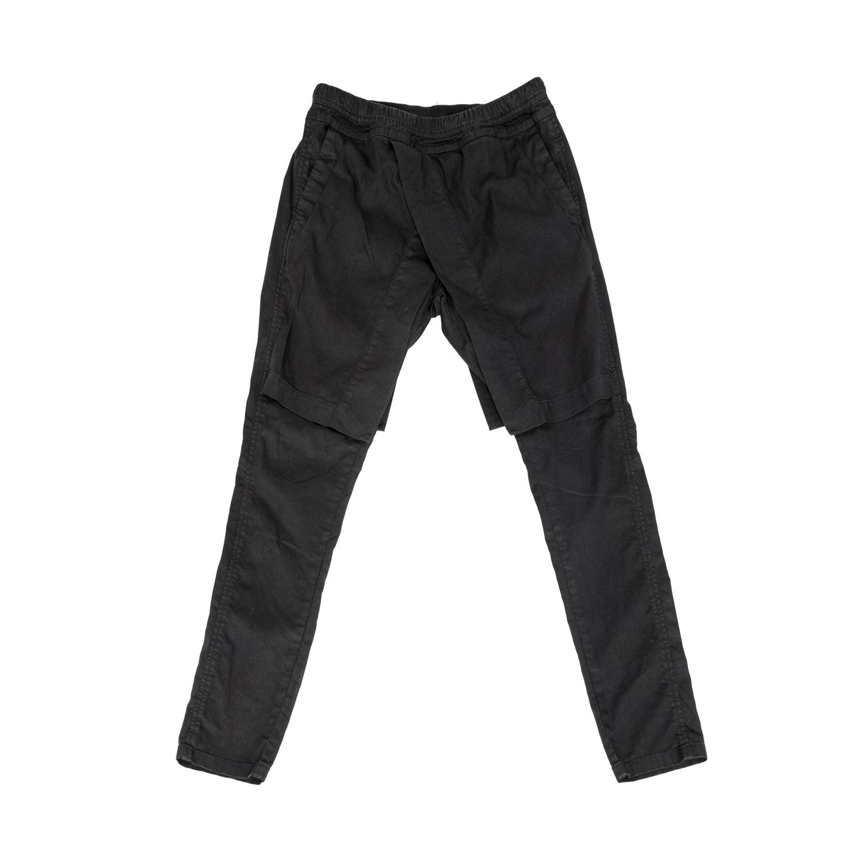 607PAM4-BLACK / アタッチドサイドレススカートパンツ