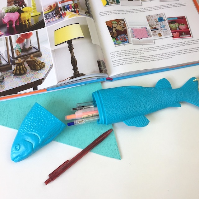 Fish Case!! L   ( Light Blue  )