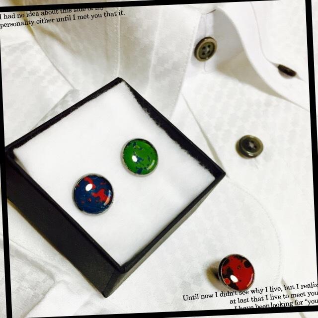 【メンズ】津軽塗りカフスボタン