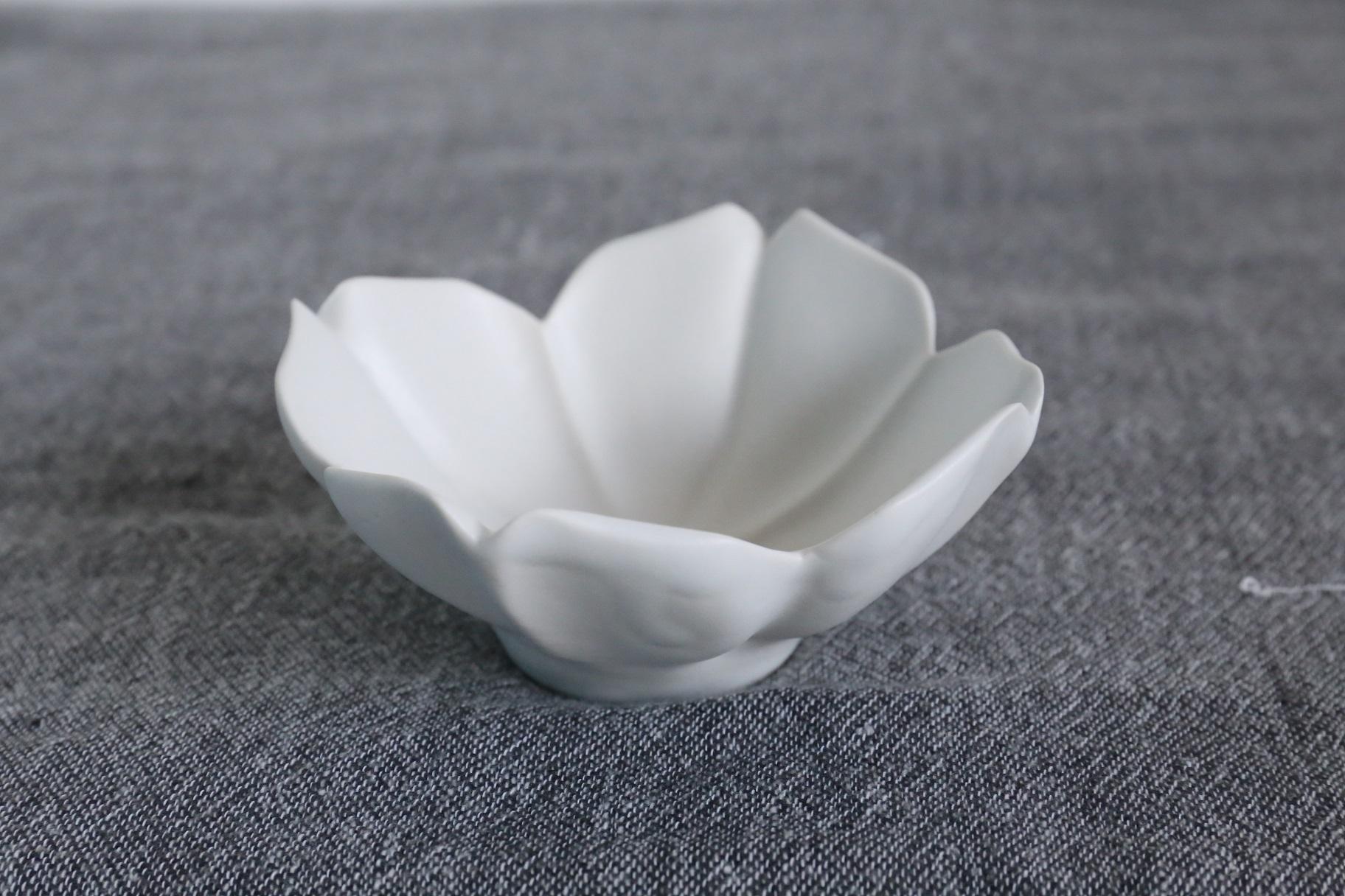 臼杵焼 稜花四弁小鉢