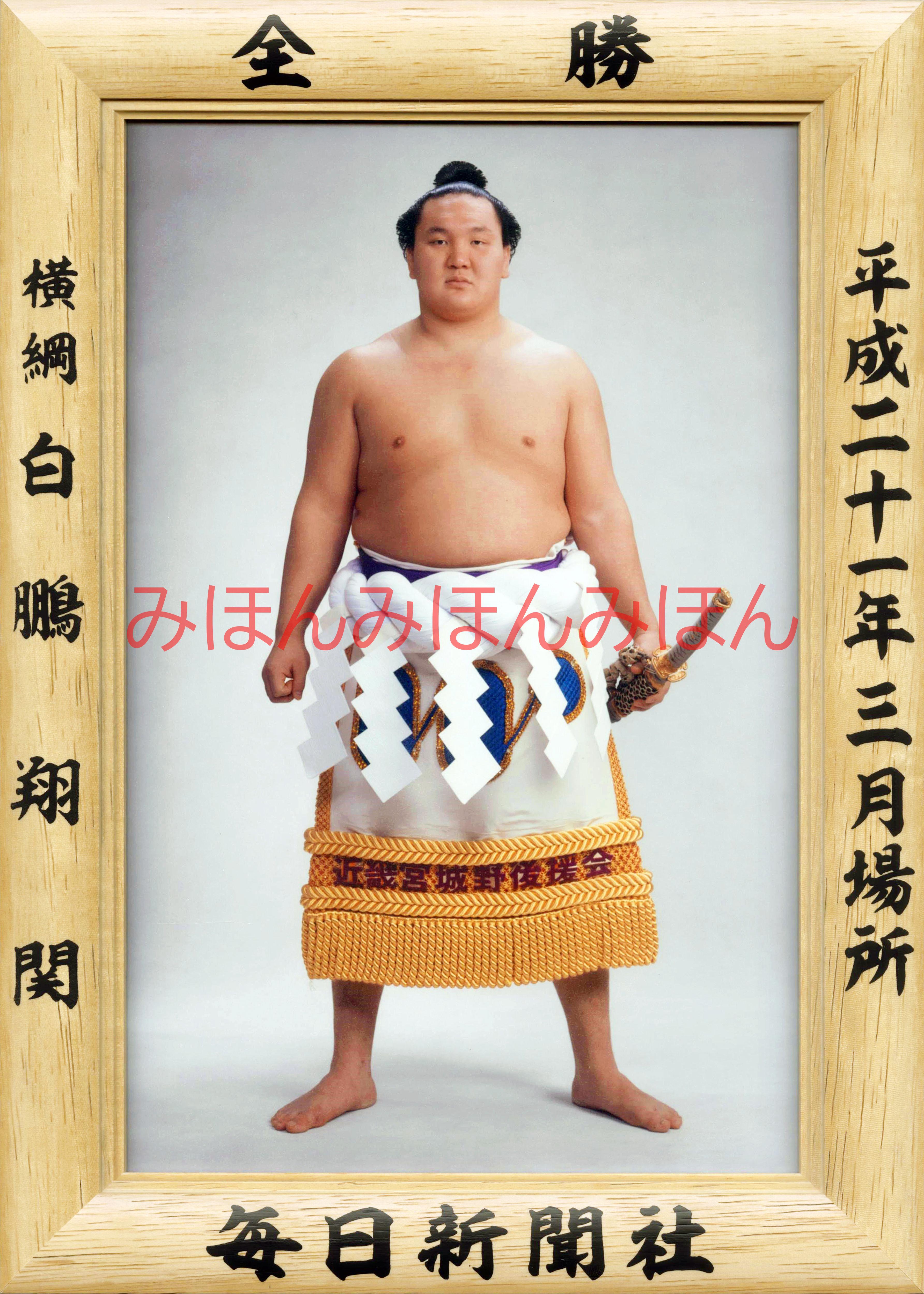平成21年3月場所全勝 横綱 白鵬翔関(10回目の優勝)